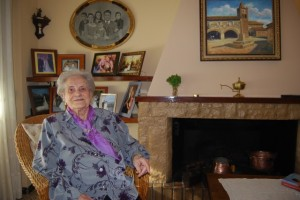 Victoria Monter Trallero en su casa. JLP.