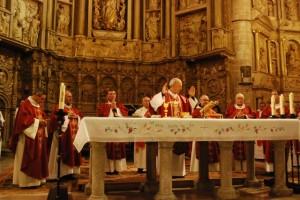 Milián ofició la eucaristía. JLP.
