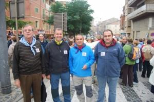 El alcalde con representantes de los barrios. JLP.