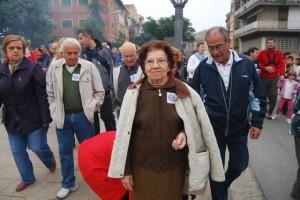 Maria Carmen Lines, la marchadora de más edad. JLP.