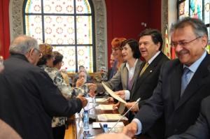 Entrega de diplomas en Zaragoza.