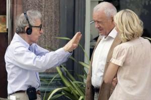 Una imagen del rodaje dirigido por Woody Allen.