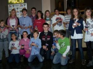 Grupo premiados en Trofeo Clausura.