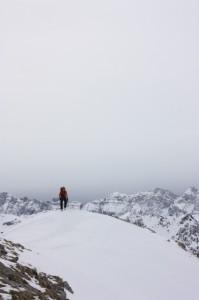 Práctica del esquí en condiciones meteorológicas adversas. Jaime.