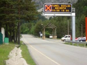 Cercanías del túnel de Bielsa.