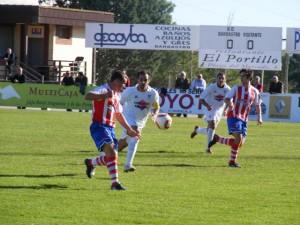 Partido de los rojiblancos contra el Andorra. Ángel Huguet.