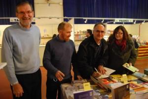 Adell, Mediano y Romero en la FLA. JLP.
