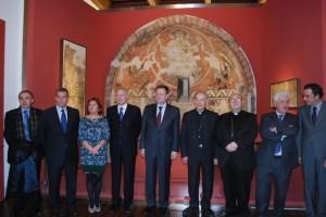 Autoridades civiles y eclesiásticas en la inauguración del museo. JLP.