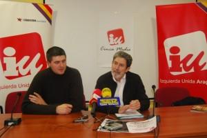 Miguel Aso y Adolfo Barrena en Monzón. JLP.