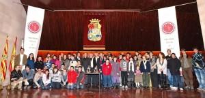 Foto de familia de los galardonados. DPH P. Montaner.