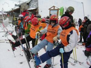Grupo de esquí de Monzón.