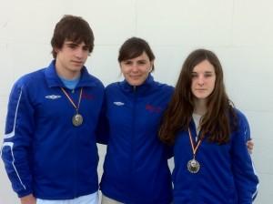 Andres Tomás, Ariadna Cristobal y Katia Hidalgo.