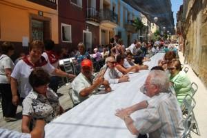 La comida estaba prevista para 850 personas. JLP.