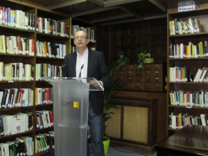 Fernando Marías, presidente del jurado de novela corta. JLP.