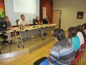 Emprendedores del Somontano durante sus ponencias. JLP.
