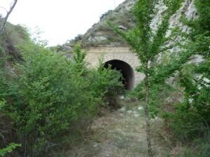 Entrada al túnel. Montañeros de Aragón.