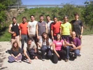 Participantes en el curso de barranquismo.