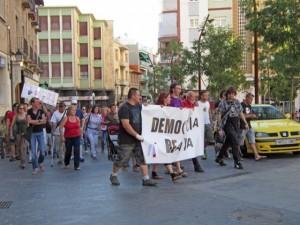 Manifestación en Monzón.