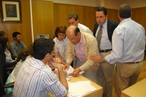 Recuento de votos en el Juzgado de Barbastro. JLP.