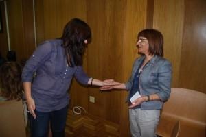 Maribel de Pablo, del PSOE, confirma que la suerte ha sido favorable para su partido.