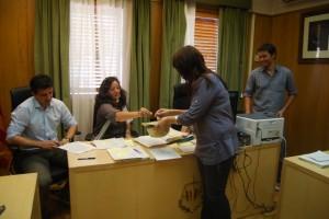 Elección por sorteo de concejales en Olvena y Laluenga en el Juzgado. JLP.