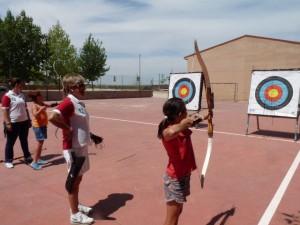 Practica de tiro en Bierge. Carmen Guardia.