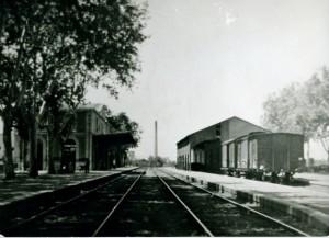 Estación del ferrocarril. Monzón 1935-1936. Autor: Antonio Jiménez - Archivo CEHIMO.