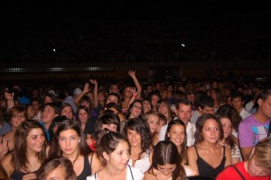 Dos mil personas en el concierto del jueves. JLP.