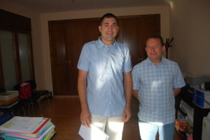 Raúl Rufas y César Sánchez. JLP.