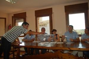 Votación del alcalde de Bierge. JLP.