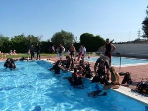 Práctica de buceo en El Grado. Carmen Guardia.