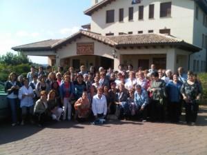 Foto de familia en la Hospedería de Guara.