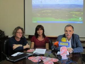 Laura Fantova, archivera, Inma Subías y Jaime Facerías. JLP.