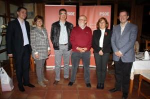 Los candidatos socialistas en Aínsa.