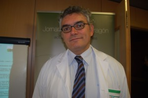 El nuevo director del Hospital de Barbastro, Luis Canalejo. JLP.