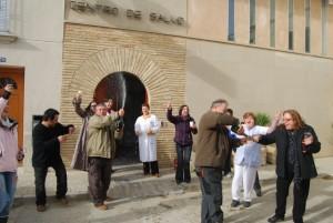 Gran alegría en el centro de Salud de Berbegal. JLP.