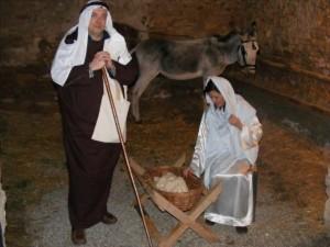San José y la Virgen María con el niño. Ángel Huguet.