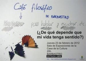 Cartel del café filosófico.