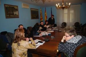 Comité de empresa durante su reunión. JLP.