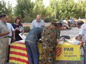 Protestas del PAR en Monzón.