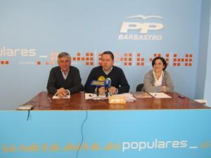 Concejales del PP de Barbastro. JLP.