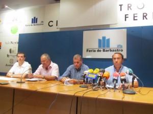 Lobera, Cosculluela y Guiral durante una rueda de prensa. JLP.