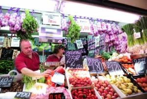 Mercado central de Zaragoza.