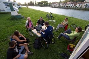Descanso en un camping de Peyrehorade. Foto: http://nohayretoimposible.blogspot.com.es/2012_07_01_archive.html