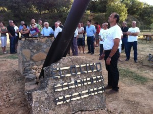 Inauguración del reloj solar. Lavinia Lisa.