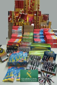 Productos confiscados.