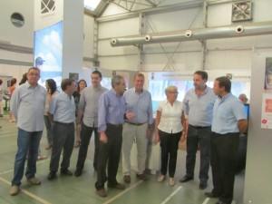 Autoridades en la recepción oficial a la Villa de Alquézar. JLP.