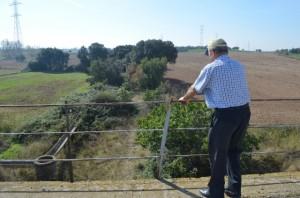 Paso elevado sobre la antigua vía ferroviaria en Selgua. José Luis Pano.