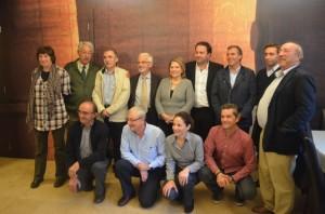 Claver con sus compañeros del CEDER Somontano. José Luis Pano.