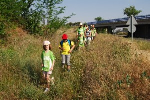 Marcha por la vía verde de Barbastro a Selgua. JLP.